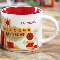 Orijinal Kutusu Las Vegas City 14 oz Kapasitesi Seramik Starbucks İl Mug Amerikan Şehirler En İyi Kahve Mug Kupası