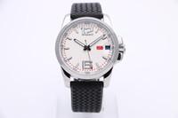 2017 44MM moda ed elegante orologio da polso da uomo quadrante bianco trasparente con movimento automatico trasparente con elastico in gomma