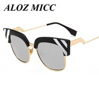 ALOZ MICC Luxury Cat Eye Sunglasses Women Vintage Fashion Ov...