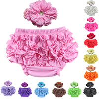 12 color baby bloomer PP pants cotton lace with hair accesso...