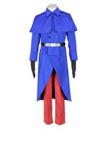 Malidaike Anime Halloween Party Suit Hetalia masculino: Axis Powers Traje Cosplay França Uniforme Terno Completo