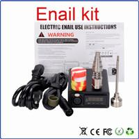 휴대용 E 손톱 enail 전기 손톱 110V / 220v 100w 16mm / 20mm 코일 히터 티타늄 손톱 및 dabber 도구 DHL 무료 Dnail 키트