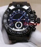 2020 New Black Watch 44mm Mouvement mécanique automatique Mens inoxydable montres en acier verre saphir Montres-bracelets btime