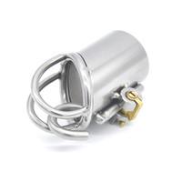 Dispositivo da castidade da punção do PA do aço inoxidável, somente para a gaiola da torneira de PA800, fechamento do pénis, anel do galo, correia de castidade, jogo adulto, CPA215