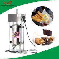 N14 Commercial Churro Maker 15L máquina de churros elétrica automática máquina de churros espanhol para venda de aço inoxidável