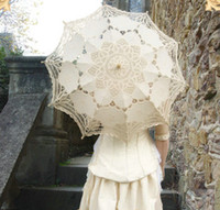 Antique lace parasols umbrellas wedding bride bridesmaid par...