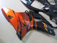 Benutzerdefinierte Schwarz Rot Flammen Motorradverkleidung Kit für Yamaha YZF R1 1998 1999 YZFR1 98 99 YZF-R1 98-99 YZF1000 Verkleidung Teile