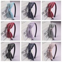 High quality Lace multi-layer bowknot hair hoop wild fashion exquisite girl cloth headband TG040 mix order 30 pieces a lot
