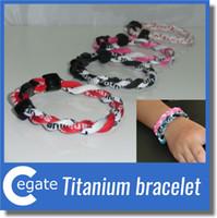 Bracelet de 2 cordes tornade Bracelet de 2 cordes Tornado Germanium Titanium, bracelet d'athlètes sportifs