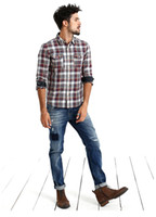 Wholesale-Jeans Men New Arrival SIMWOOD Brand Clothing Blue Slim Fit Casual Denim Pants High Quality Free Shipping