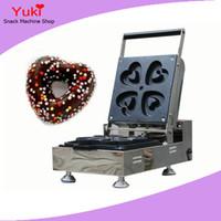 Ticari Kalp Şeklinde Çörek Makinesi Elektrikli Waffle Makinesi Makinesi Mini Çörek Makinesi Satılık Donut Makinaları