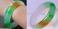 China Natural grado A Jadeite Jadeite Bracciale a tre colori interno 56mm-62mm