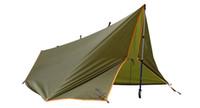 Soldado tienda de campaña multifuncional al aire libre de doble capa 4 temporada Anti-UV sol tienda de refugio para ir de excursión acampar y playa