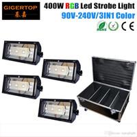 4IN1 Roadcase пакет 400W RGB Led Strobe Light Mini DJ Strobe Light Flash Light 3IN1 светодиодные лампы освещения этапа партии диско 100V-220V TP-S400RGB