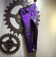 US New Famous popular washed purple Golden coated Motorcycle...