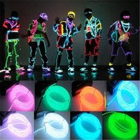 2M 3M 5M flessibile luce al neon Glow EL Wire Rope Tube Car Dance Party Costume + controller batteria 2AA