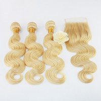 8a Brazilian Virgin Remy Weave Bundles with Closure 3pcs Bun...