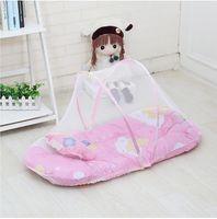 아기 여름 휴대용 모기 그물 아기 침대 접는 모기 그물 액세서리 유아 침대 넷 어린이 베개 설치없이