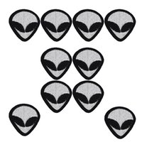 10 pcs Alien patches punk badges for clothing iron embroider...