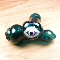 Hot Sell Eyes Spoon Pipes dry herb Pipe Glass Smoking Pipes ...
