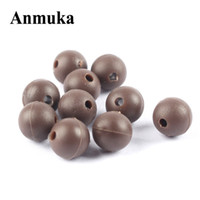 50PCS / Lot 8mm 2mm Rotondo Perle in gomma morbida Carp Fishing Beans Rig Accessorio Tackle Carp Rigs