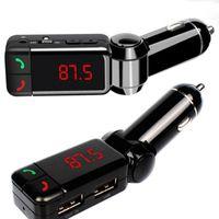 Últimas Acessórios para Carros Universais Mini Carregador Bluetooth Handsfree com Duplo USB Porta de carregamento 5V / 2A LCD U disco FM Broadcast MP3 AUX