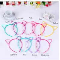 Al por mayor- 10 Mixed Color Plastic Cat Ear Hair Tiara princesa venda del pelo banda con los dientes