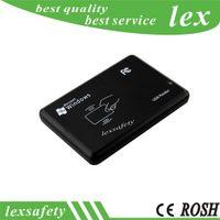 13.56mhz RFID lecteur de carte à puce port USB lecteur de carte à puce pour 14443a protocoles cartes MF 1K / S50 / S70 / Nfc 203 / nfc213 + 2 porte-clés