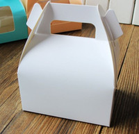 White paper cake box with handle_wedding party favour boxes ...