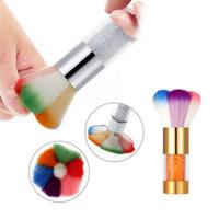 다채로운 네일 아트 먼지 제거제 브러시 클리너 아크릴 UV 네일 젤 파우더 # R69
