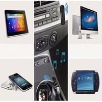 Универсальный 3.5 мм Bluetooth Car Kit A2DP Беспроводной AUX Аудио Музыкальный Приемник Адаптер Громкой Связи с Микрофоном Для Телефона MP3 Розничная Коробка
