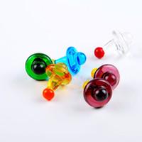 소시지의 소량의 석유 굴착 장치를위한 범용 다채로운 범용 솔리드 컬러 유리 UFO 석영 수화물 캡, 석영 깡패 손톱