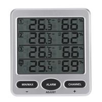 Thermo-hygromètre intérieur / extérieur sans fil à 8 canaux LCD numérique 433 MHz avec trois capteurs à distance Thermomètre Hygromètre