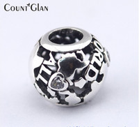 Fits Pandora Bracelet &Necklace All around the world openwork Silver Beads New Original 925 Sterling Silver Charms DIY Wholesale