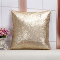 Solid Color Glitter Pailletten Kissenbezug Sofa Pillowcase Cafe Heimtextilien Dekor Kissen Stuhlsitz Preference