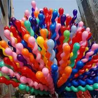 10 pz / lotto Lungo 36 pollici Vite Filo Palloncino In Lattice Galleggiante Palline D'aria Gonfiabile Matrimonio Festa di Compleanno Decorazione Baloon Globos Giocattoli