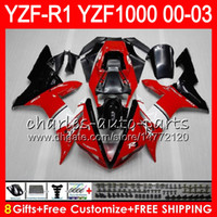 8Gift 23Color Body For YAMAHA TOP red black YZF1000 YZFR1 02...