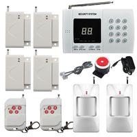 Sistema di allarme antifurto senza fili PIR per la sicurezza domestica Dialer automatico con selezione automatica 2x rilevatore di movimento a infrarossi Sensore di allarme 4x porte / finestre