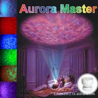 Onde circolari colorate Master Proiettore con luce notturna stellata romantica Proiettore versione Aurora