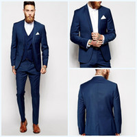 New Arrival Two Buttons Groom Tuxedos Notched Lapel Groomsme...