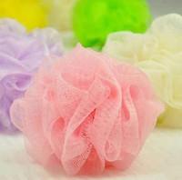 Venda por atacado- 10x cores aleatórias Soap Mesh Bath Shower Sponge espuma corporal bolha Puff Net Ball 43916701