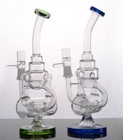 Grace bong tubo di acqua di vetro 14 'di vetro di spessore bong tubi di acqua di vetro base becher 2 funzioni piattaforme petrolifere fumare tubi colorati dab rig