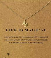 With card! cute Dogeared Necklace with Unicorn (Life is Magi...