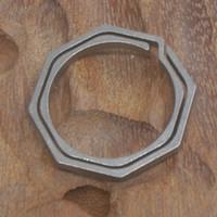 EDC tgj10 Schlüsselanhänger Ultraleicht (ca. 5g) Titanium Ti Unibody Outdoor EDC Schlüsselanhänger Sternanis