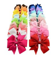 80Pcs 3. 1 inch Baby Kids Girls Hair Bows Boutique Hair Grosg...