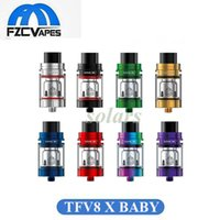 100% Original SMOK TFV8 X-Baby Tank 24,5mm Sub Ohm Vape 4ml Top Remplissage Anti-Détection Anti-Détection Atomizer