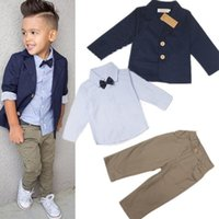 Autumn Fashion 3Pcs Clothing Set Long- sleeved Jacket+ shirts+...