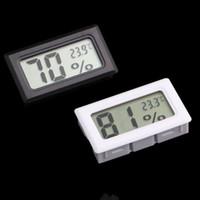 nouveau noir / blanc Mini Digital LCD Environnement Thermomètre Hygromètre Humidité Température Mètre Réfrigérateur dans la chambre glacière