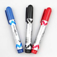특별 제공 도매 단일 헤드 마커 펜 블랙 유성 닦아 배송 마크 펜 문구를 닦아하지 마십시오