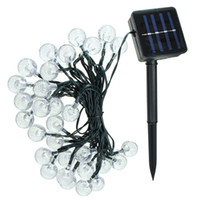 30 LED solaires à bulles de lumière solaire panneau solaire alimenté par fée à la lumière de jardin à LED pour le décor de Noël en plein air